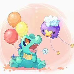 Totodile and Driftloon