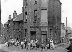 Junction of Copper Street (left) and Furnace Hill (right), Netherthorpe around Sources Of Iron, Maker Studios, Industrial Architecture, South Yorkshire, Local History, Derbyshire, Coventry, Sheffield, Historical Photos