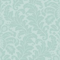 Traditional Damask Wallpaper in Soft Greens design by Candice Olson