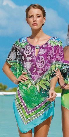 # Sunflair 2014 Lemonfruit Poncho Cover Up Sunflair LemonFruit CoverUp Beachwear Southbeachswimsuits