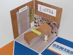 explosionsbox zu weihnachten zum verschenken eines sauna gutscheins stampin up explosionsboxen. Black Bedroom Furniture Sets. Home Design Ideas