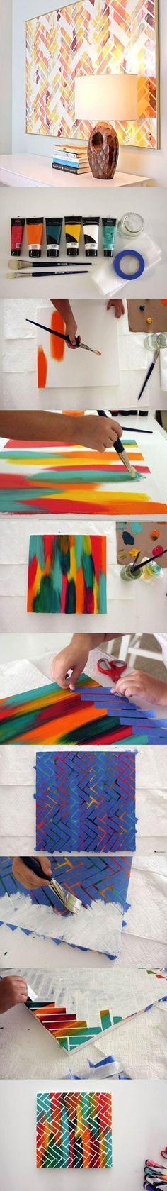 Réalisez une peinture creative.
