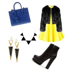 Bumble by kaycie-marie-surrell on Polyvore featuring polyvore, fashion, style, AQ/AQ, Forever 21, Yves Saint Laurent, Lana and Disturbia