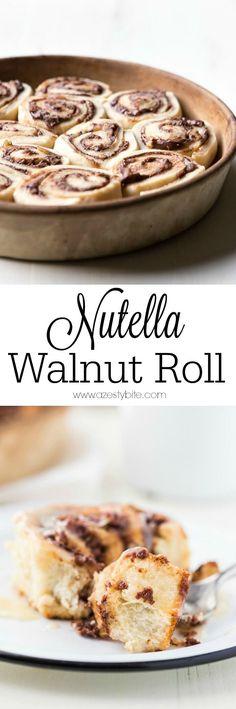 Nutella Walnut Rolls