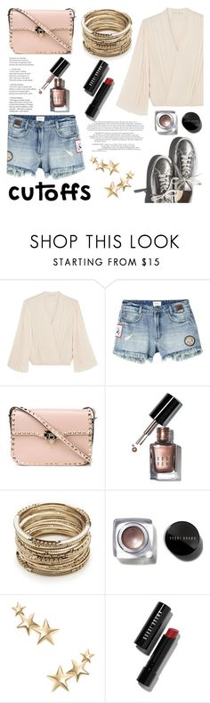 Summer Staple: Denim Cutoffs (Contest Entry) by raniaghifaraa on Polyvore featuring moda, Alice + Olivia, RVCA, Valentino, Sole Society, Kenneth Jay Lane, Bobbi Brown Cosmetics and Garance Doré