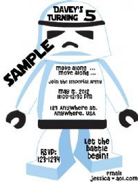 Storm Trooper Style Personalized Birthday Invitations...