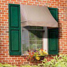 Image Canvas Window Awnings | Custom Canvas Window Awnings Stripped  By  Aurelia | Garage | Pinterest | Window Awnings, Window And Canvases