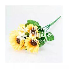 10 buquês de girassol girassois artificial artificiais flor