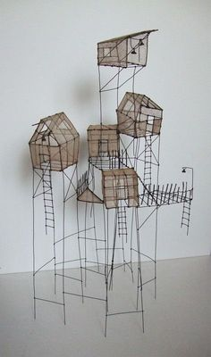 Get students to recreate iconic arcitecture in wire and waxed rice paper - image inspiration: sculpture by Isabelle Bonte www.dailyartmuse.com/