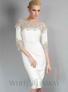 Vivienne Embellished Dress. An exquisite and heavily embellished dress for a special occasion. This dress makes a perfect Engagement dress in white or a stunning dress for Mother of the Brides.