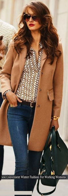 100 Convenient Winter Fashion Ideas for Working Women