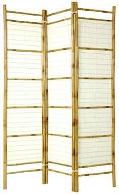 6 ft. Tall Burnt Bamboo with Rice Paper Shoji Screen | RoomDividers.com