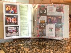 I was given this book as a going away gift from all my friends. Each friend created a unique page along with photos and memories. I thought this was such a great idea, I wanted to pin it! Will treasure this...