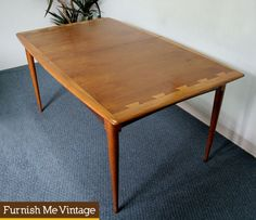 Rare Lane Acclaim Dining Table Mid Century Modern