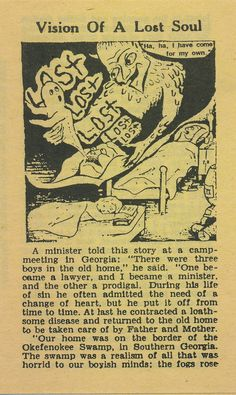 Vision Of A Lost Soul (Pilgrim Tract Society) Bible Tracts, Leslie Hung, Old Time Religion, Speaking In Tongues, Religious Books, Occult Art, Three Boys, My Salvation, Commercial Art
