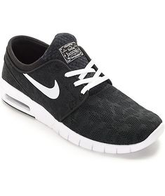 low priced 30b57 4cb63 Nike SB Stefan Janoski Max Black  amp  White Shoes    giftryapp Nike Shoes  For