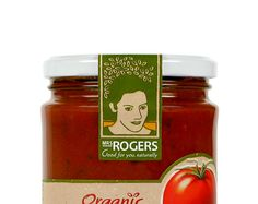 Mrs Rogers logo applied to packaging.