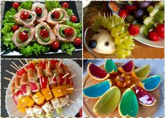 Przyjęcie dla dzieci! Pomysły na smaczne i kolorowe dania oraz przekąski :) - Blog z apetytem Kfc, Christmas Appetizers, Cute Food, Diy Crafts For Kids, Sushi, Sweet Tooth, Dessert Recipes, Food And Drink, Dishes