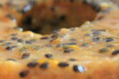 One of my family favourite cakes... Passion fruit cake with poppy seeds
