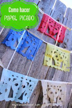 Aprende fácilmente como Hacer Papel Picado Video e Imprimible Gratis, paso a paso. El Papel Picado es típico de México y cada vez es más popular.