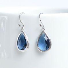 pakamera.pl - 67zł - blue sapphire teardrops - made by magda