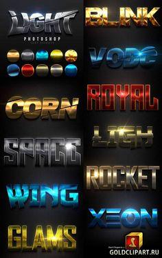 Light Text Effects 23306486 Header Design, Typo Design, Word Design, Lettering Design, Branding Design, Game Icon Design, Photoshop Text Effects, Typo Logo, Typography Layout