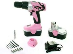 New Pink Power 18V Pink Power Cordless Drill Kit for Women PP182 18 Volt | eBay