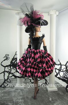 Pink Harlequin by Gwendolyns Treasures