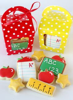 I think we will try this for a first day back gift. Back to School Cookies