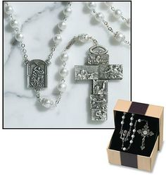 Ghirelli Sistine Chapel Faux Pearl Religious Devotional Rosary