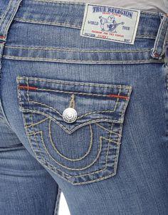 True Religion Womens Jeans Size 28 Skinny W Flaps Big T Old BLUEBLL NWT $312 #TrueReligion #SlimSkinny