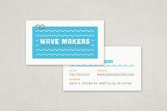 Swimming Pool Business Card Template - perfect for swimming lesson providers! #Inkd