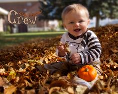 9 month baby photo autumn fall portrait