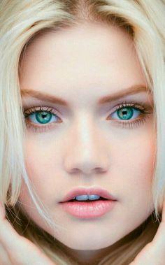Evening Most Beautiful Faces, Gorgeous Eyes, Pretty Eyes, Cool Eyes, Beautiful Women, Beautiful Pictures, Girl Face, Woman Face, Beauté Blonde