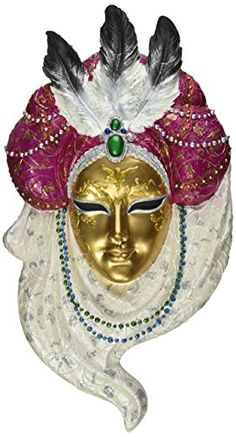 Design Toscano Noble Ladies of the Venice Carnivale Signora Bonifati Wall Mask Christmas Decorations, Christmas Ornaments, Holiday Decor, Venice Carnivale, Wall Sculptures, Decor Ideas, Amazon, Lady, Image