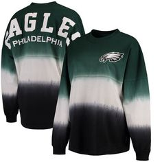Philadelphia Eagles NFL Pro Line by Fanatics Branded Women s Spirit Jersey  Long Sleeve T-Shirt - Midnight Green Black aee043b2c21a