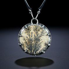 Metalsmiths Amy Buettner & Tucker Glasow. Dendritic Limestone Centerpiece. Fabricated Sterling Silver. www.amybuettner.com