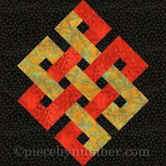 Eternity Knot Paper Pieced Quilt Block | Craftsy