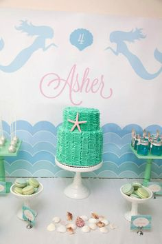 Mermaid Sweet Table / Candy Buffet by JoStudioPartyPaperie on Etsy