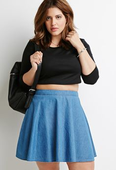 eb669860d9f Denim Skater Skirt