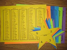 Earn a sticker on your star for each set of 20 words read correctly in 20 seconds or less (or not timed, depending on learning needs).  Each star completed with five stars earns a certificate.  Terrific idea!