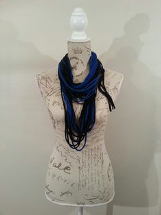 Royal blue & Black scarf by Taryn Muller