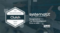 """We are very proud and excited to announce that Systematix Infotech has been recognized as """"Top Web Development Firms in India """" by Clutch #growth #teamsystematix #topwebdevelopmentfirms #proudmoment Proud Mom, Web Development, Cards Against Humanity, India, In This Moment, Tops, Goa India, Indie, Indian"""