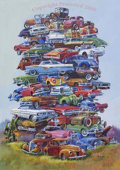 Junkpile (Ford Version) 50's Junkpile by Dale Klee