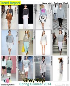 Grey Top Fashion Trend for Spring Summer 2014 #Spring2014 #trend #trends