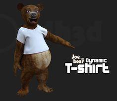 New free dynamic cloth for the Poser figure Joe the Bear, enjoy it !