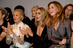 Adwoa Aboah, Cara Delevigne and Lily James sat front row at the Burberry show. See more action from the London Fashion Week FROW here: http://lifestyle.one/grazia/fashion/news/london-fashion-week-front-row/