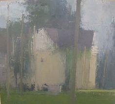 farm house and telephone poles ~ oil ~ stuart shils