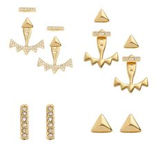 Stella & Dot's NEW Pave Triangle Ear Jackets - 6 ways in 1! Available in silver or gold. $49.