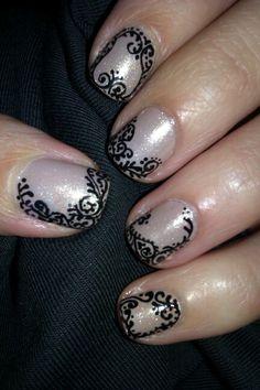 Nude nails / Koronka #nude #nails #nailart #paznokcie #zdobienie